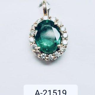 emerald pendant 1.38 / .27